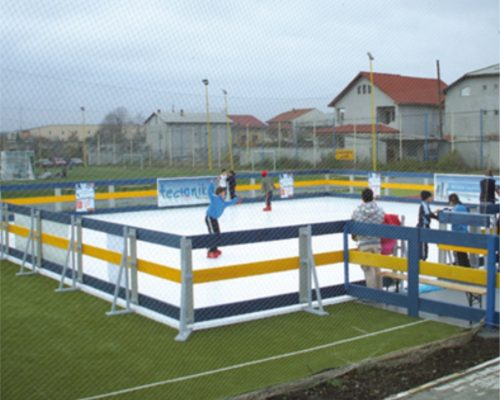 Outdoor flooring for ice rink